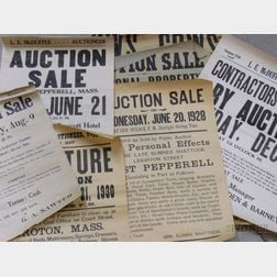 Nine Early 20th Century Auction Broadsides