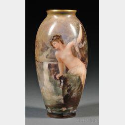 American Belleek Hand-painted Vase