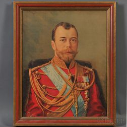 Lithograph of Tsar Nicholas II