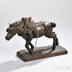 After Regis-Francois Gignoux (French, 1816-1882)         Bronze Mule
