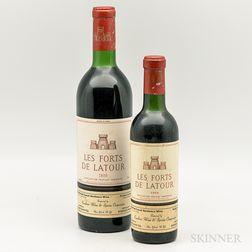 Les Forts de Latour, 1 demi bottle1 bottle