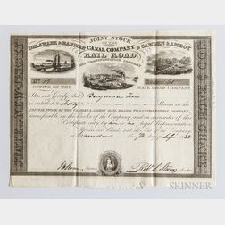 Camden & Amboy Joint Companies Railroad Stock Certificate