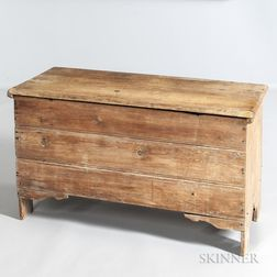 Early Crease-molded Pine Blanket Chest