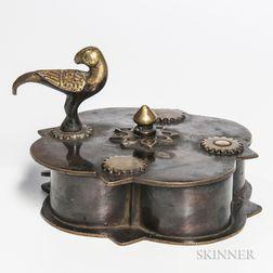 Bronze Tika   Ritual Kumkuma   Powder Box