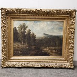 Wesley Webber (American, 1841-1914)       White Mountain Scene