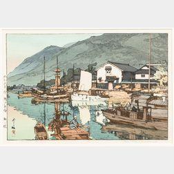 Hiroshi Yoshida (1876-1959), Tomonoura Harbour