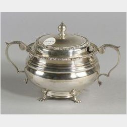 George V Silver Covered Sugar Bowl
