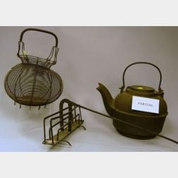 Four Wrought Iron Hearth Cooking Items