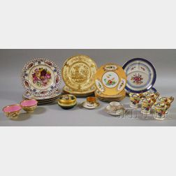 Lot of Assorted Decorated Ceramic Tableware and Articles
