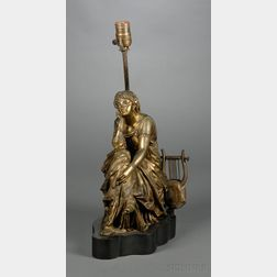 Figural Bronze Lamp Base
