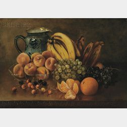 Abbie Luella Zuill (American, 1856-1921)      Still Life with Bananas and Plantains