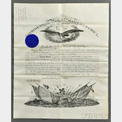 Grant, Ulysses S. (1822-1885) Signed Military Commission, 22 July 1876.