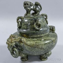 Hardstone Covered Tripod Censer