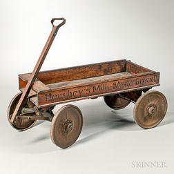 Hershey's Milk-Made Bread Wood and Iron Wagon