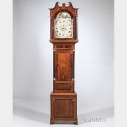 W. Crockford Mahogany and Oak Tall Case Clock