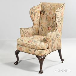 George III-style Tapestry Wing Chair