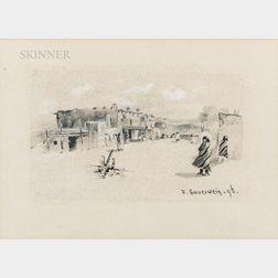 Frank Paul Sauerwein (American, 1871-1910)      Village Scene