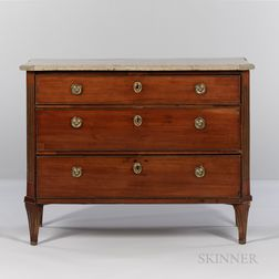 Swedish Gustavian Drop-front Mahogany Desk/Chest