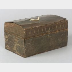 Engraved Baleen Veneered Dome-top Box
