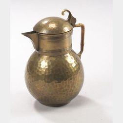 Hammered Brass Water Pitcher