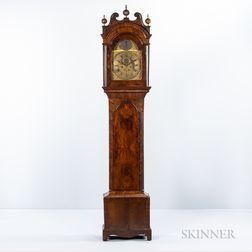 George II Walnut and Walnut-veneered Tall Clock