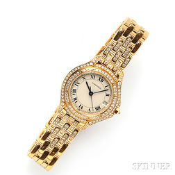 Lady's 18kt Gold and Diamond Wristwatch, Cartier