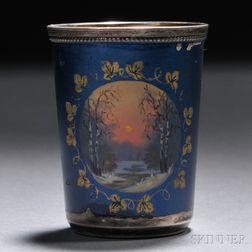 Enameled Silver Vodka Cup