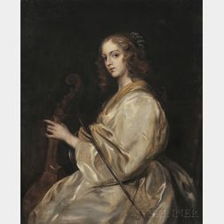 After Sir Anthony van Dyck (Flemish, 1599-1641),      Young Woman Playing a Viola da Gamba