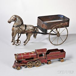 Two Painted Tin Toys