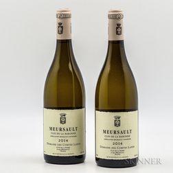 Comtes Lafon Meursault Clos de la Baronne 2014, 2 bottles