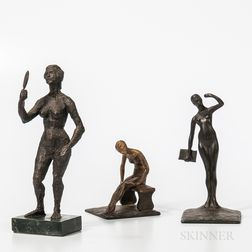 Three Bronze Sculptures