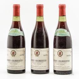Lucien Geoffroy Gevrey Chambertin Clos Prieur 1979, 3 bottles