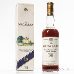Macallan 18 Years Old 1971, 1 750ml bottle (oc)