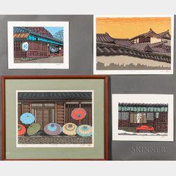 Katsuyuki Nishijima (b. 1945), Four Woodblock Prints