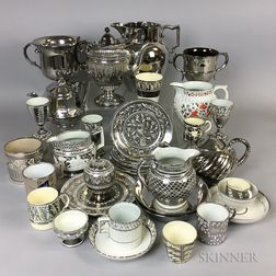 Thirty-two Silver Lustre and Silver Resist Items.     Estimate $20-200