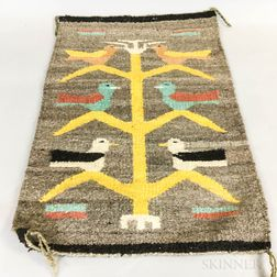 Small Navajo Weaving with Birds