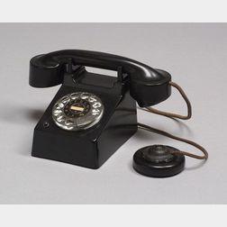 Bauhaus Bakelite and Metal Telephone