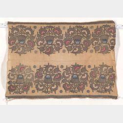 Ottoman Silk and Metal Thread Textile Fragment