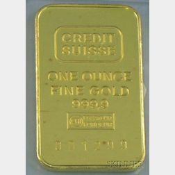 Credit Suisse One Ounce Gold Ingot