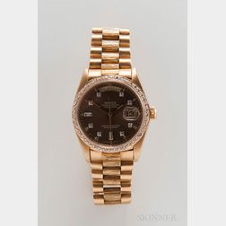 Rolex 18kt Gold and Diamond Day-Date Reference 18078 Wristwatch