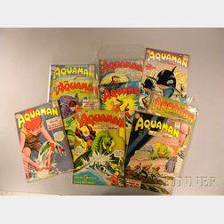 Nine Silver Age Aquaman  , No. 1, 2, 4-10