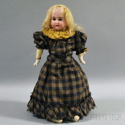 German Bisque Shoulder Head Doll