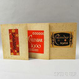 Collection of Serizawa, Keisuke (1895-1984) Calendar Woodblock Prints
