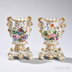 Pair of Jacobs Petit Porcelain Vases