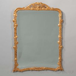 Rococo-style Carved and Gilt-gesso Mirror