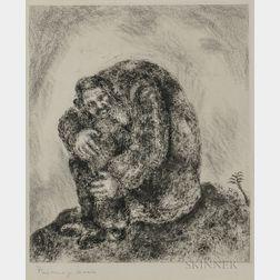 Marc Chagall (Russian/French, 1887-1985)      Elijah on Mount Carmel