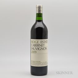 Ridge Cabernet Sauvignon Estate 2009, 1 bottle