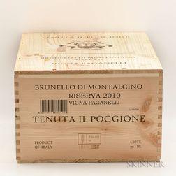 Il Poggione Brunello di Montalcino Vigna Pagnelli 2010, 6 bottles (owc)