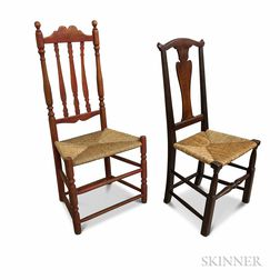 Bannister-back and a Queen Anne Maple Side Chair.     Estimate $100-150