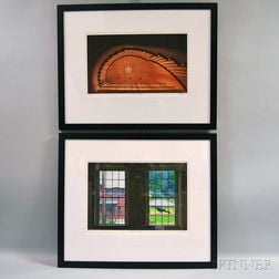 Max Stern (American, 20th/21st Century)      Two Color Photographs: Mass MOCA Window